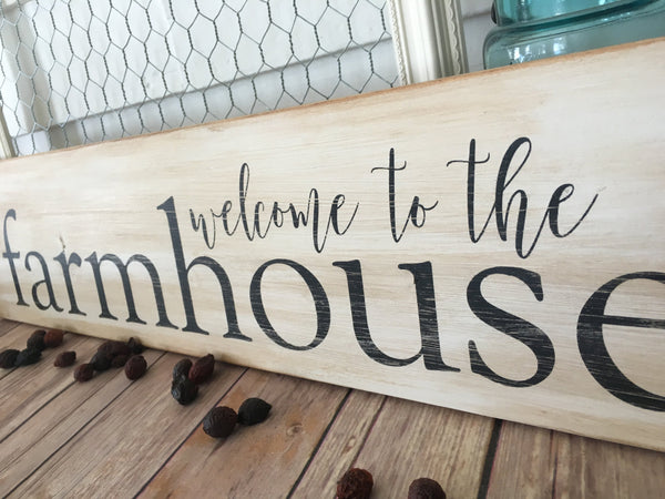 Farmhouse Decor Welcome to the Farmhouse Wooden Sign Home Decor Rustic Decor Modern Farmhouse