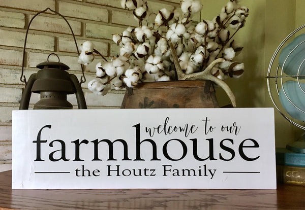 Welcome to our Farmhouse Wood Sign - Farmhouse Style - Fixer Upper - Modern Farmhouse - Home Decor