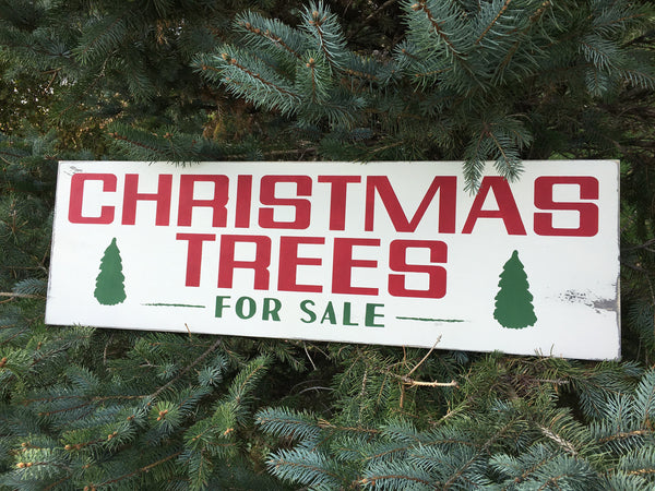 Christmas Trees Sign - Joanna Gaines - Farmhouse Christmas Style - Vintage Holiday - Rustic - Home Decor - Wood Sign