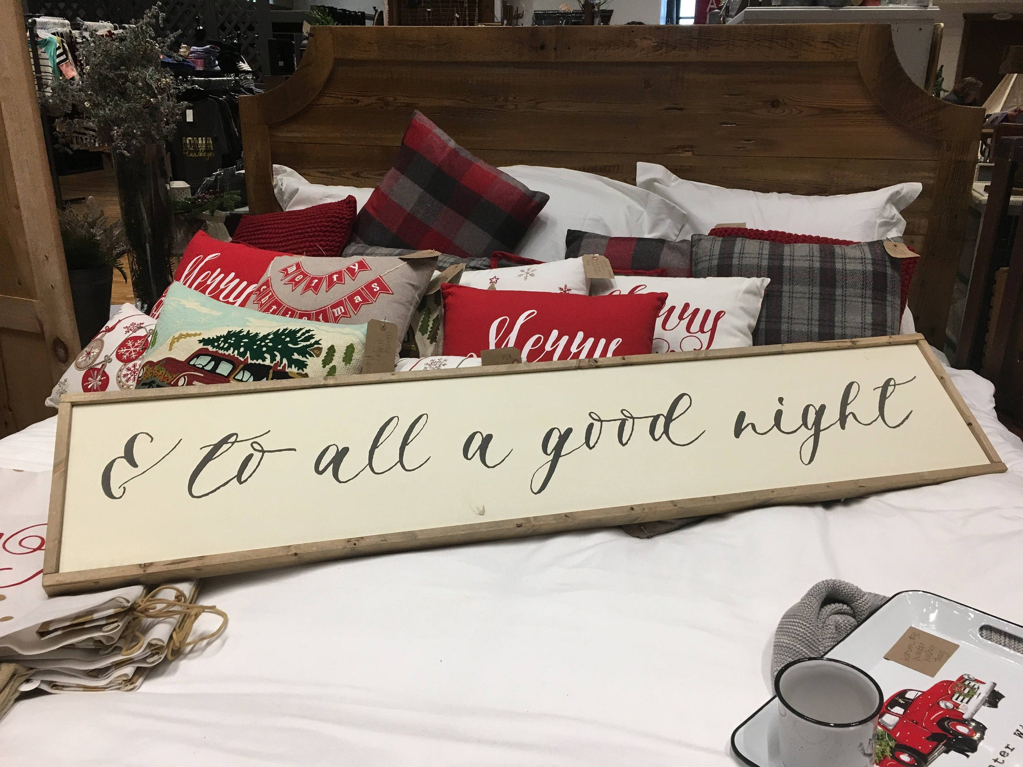 And To All a Good Night Wood Sign - Farmhouse - Christmas Decor- Bedroom Decor - Guest Room - Framed Sign - Home Decor