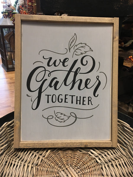 Gather Together Wood Sign - Home Decor - Farmhouse Decor - Dining Room - Kitchen - Family Room - Gallery Wall