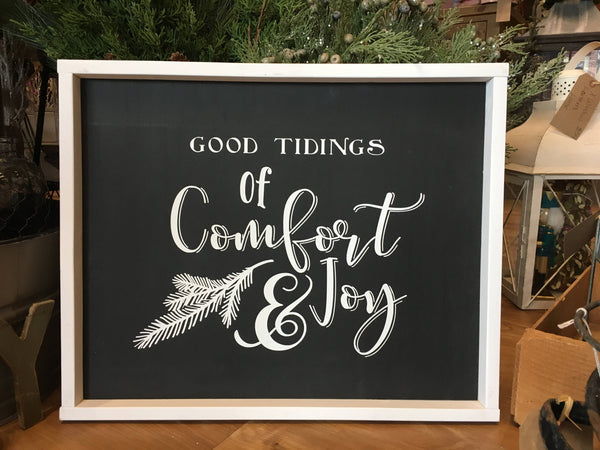 Comfort & Joy Wood sign - Holiday Decor - Christmas Decor - Farmhouse - Rustic - Cabin -  Modern - Wedding
