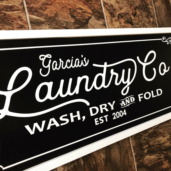 Personalized Laundry Sign