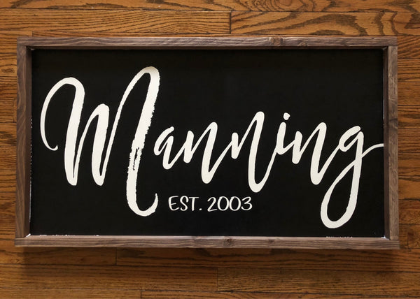 Personalized Wood Sign - Custom Last Name - Established - Family Name - Wedding Gift - Housewarming