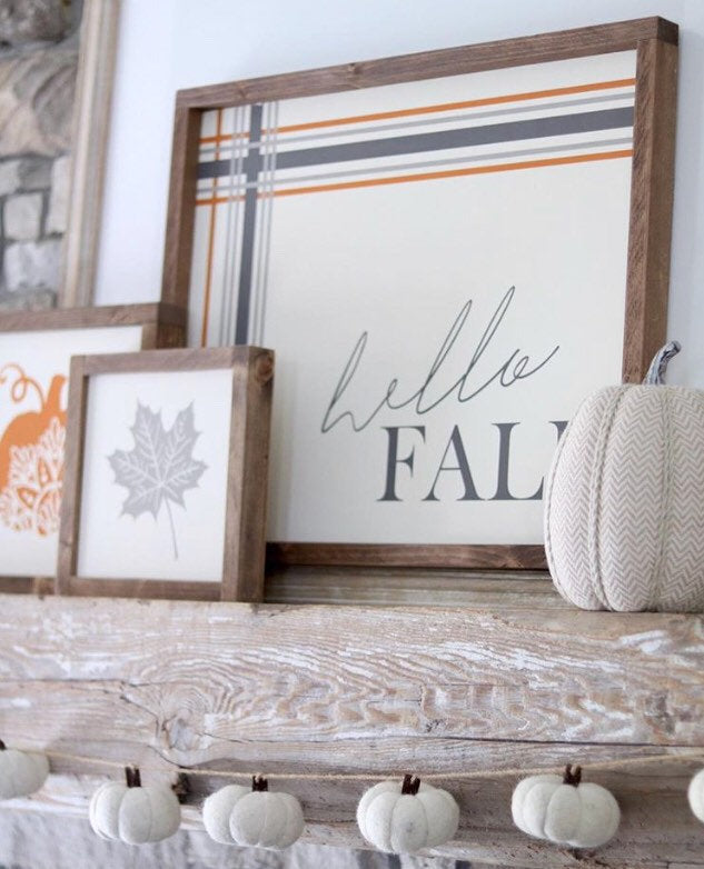 Hello Fall Plaid Sign Bundle