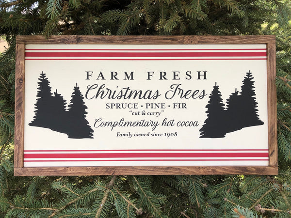 "Christmas Tree Sign | Nostalgic Home Decor | 13""x24"""