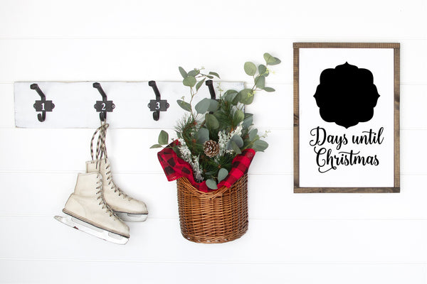 Days Until Christmas Chalkboard Sign