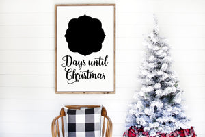 "Days Until Christmas Chalkboard Sign - 18""x24"" - Christmas Decor - Holiday - Winter - MORE SIZES & COLORS"