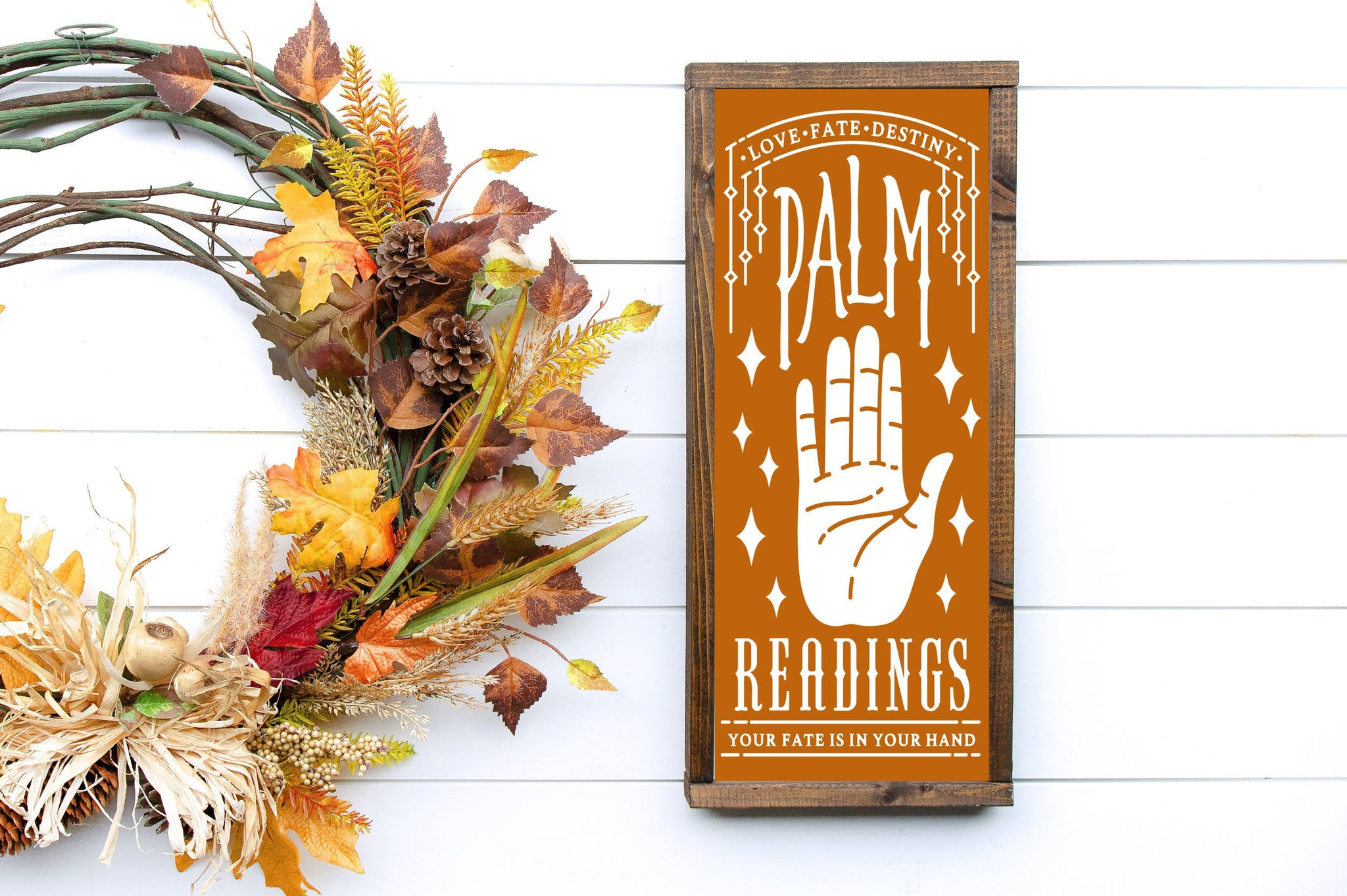 Halloween Décor - Palm Readings -  MORE COLOR & SIZES - Wood Sign - Fall Décor - Autumn