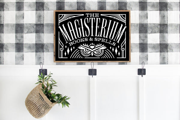 Magisterium Halloween Wood Sign