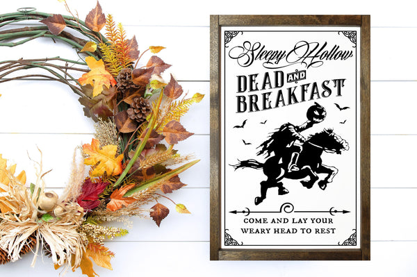 Dead and Breakfast - Halloween Décor - MORE COLOR & SIZES - Wood Sign - Fall Décor - Autumn