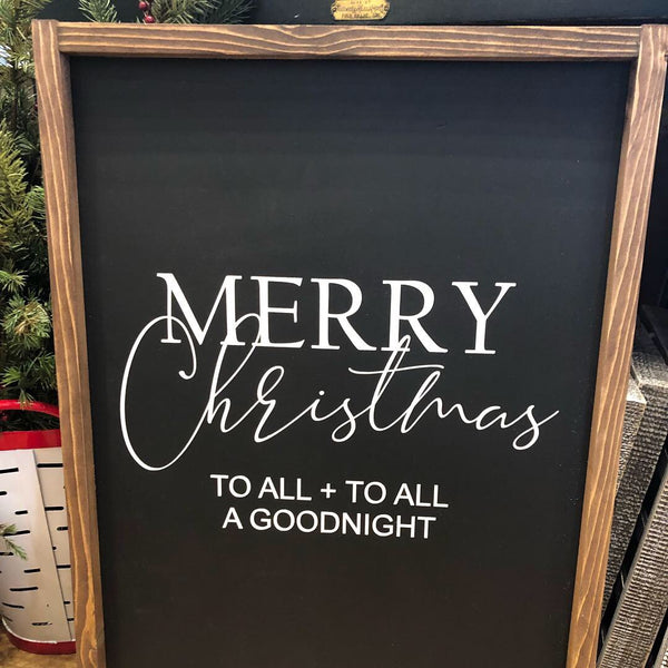 Merry Christmas to All Wood Sign
