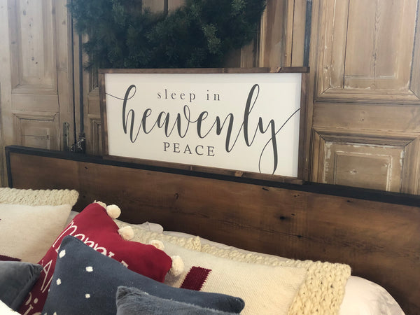 Sleep in Heavenly Peace Wood Sign