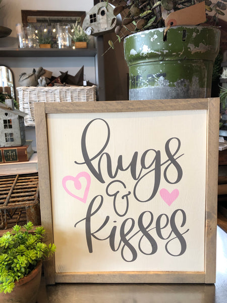 "Hugs & Kisses - 13""x13"""