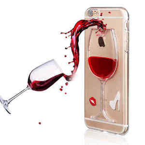 iPhone Cover - 3D Liquid Wine Glass