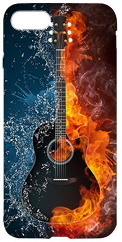 iPhone Cover - Fire & Ice Guitar