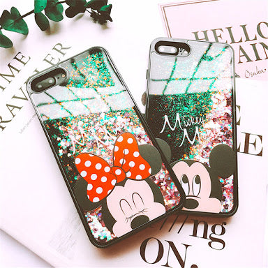 iPhone Cover - Mickey/Minnie Mouse Liquid