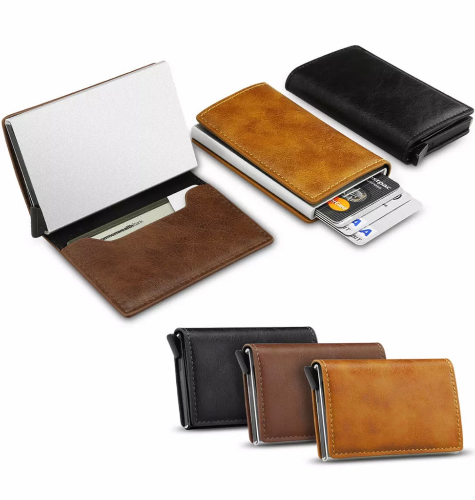 Leather Credit Card Holder Money cash Wallet