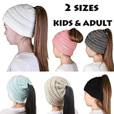 Pony Tail Beanie - Kids