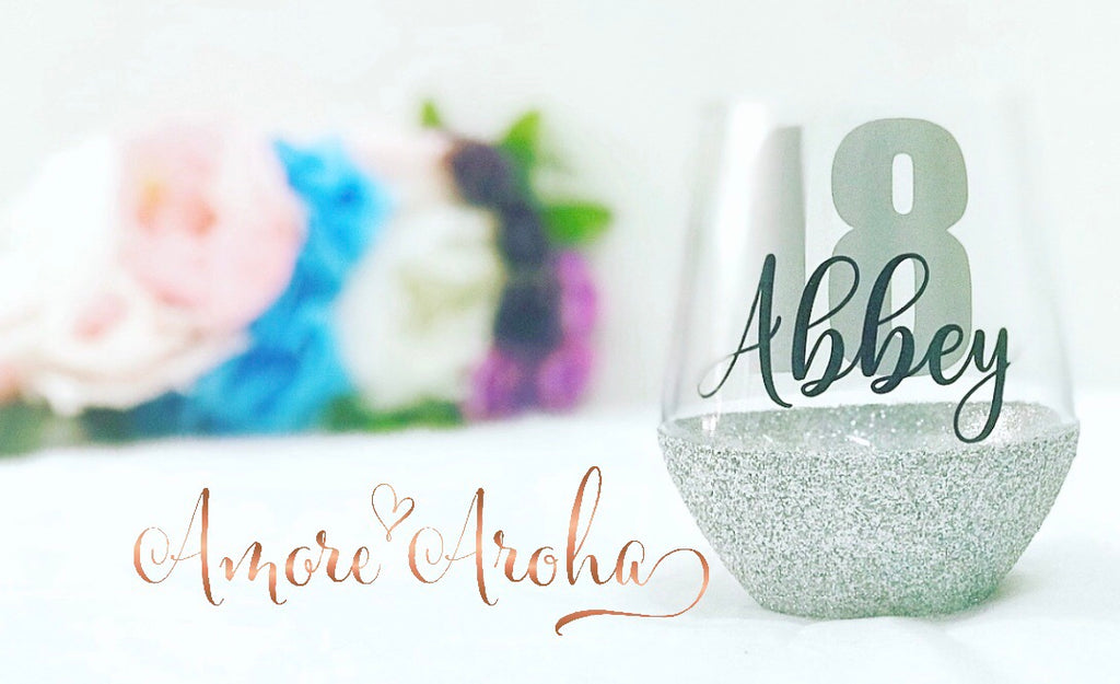 Custom Stemless Glass