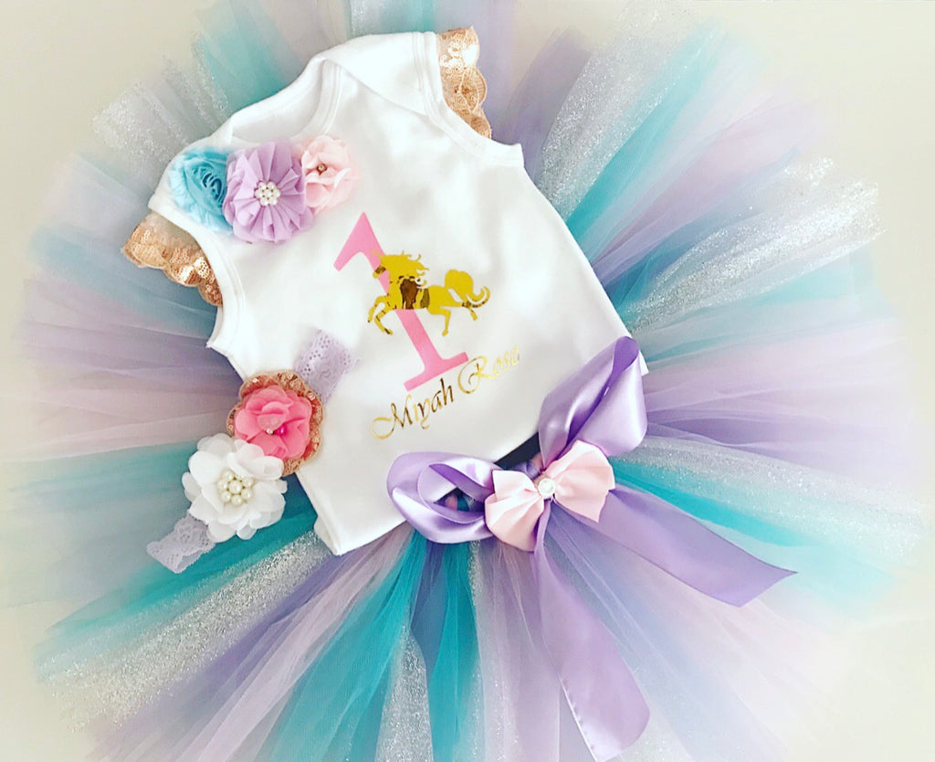 Glitter Unicorn Tutu Set