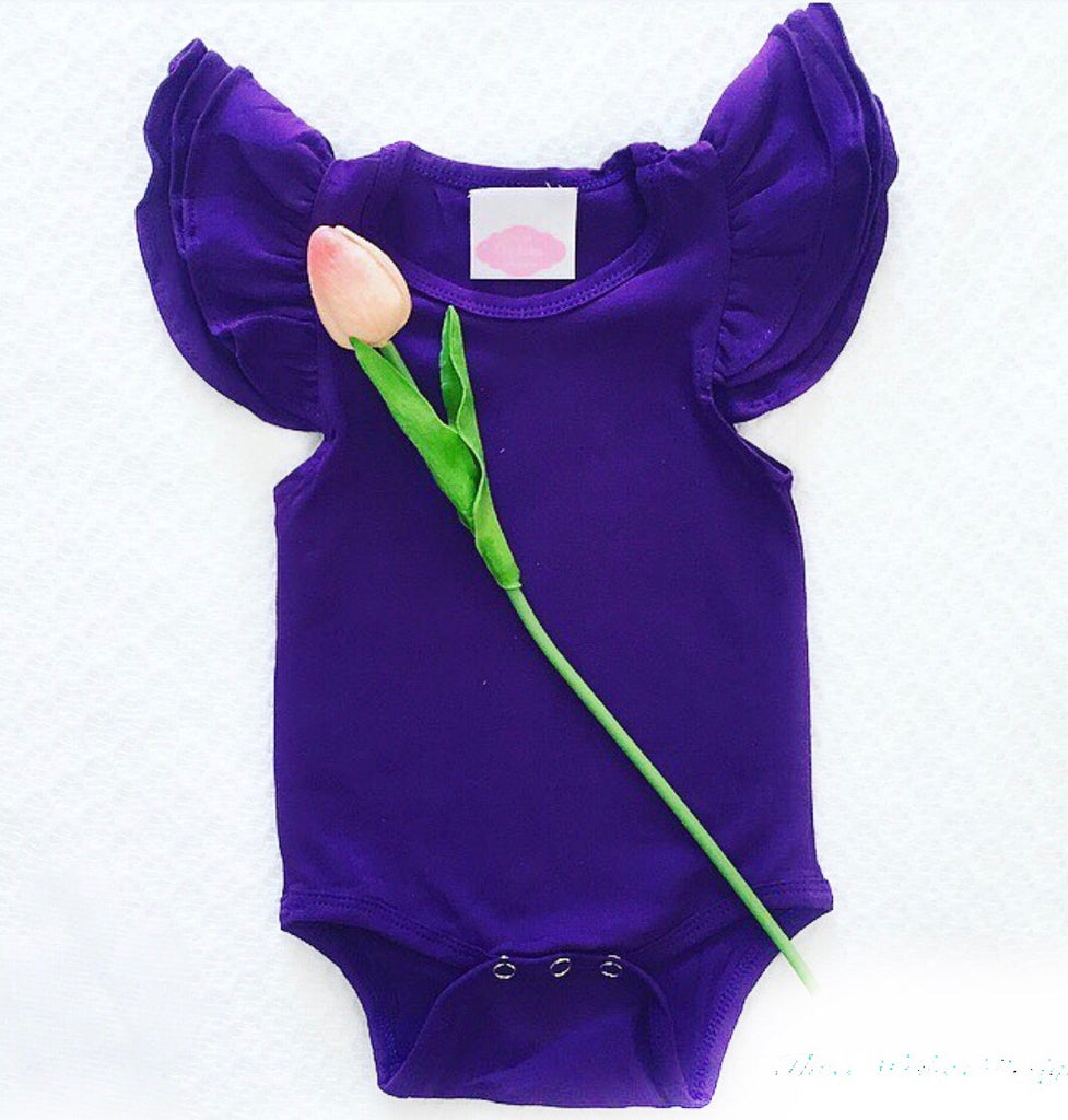 Flutter Romper - Purple