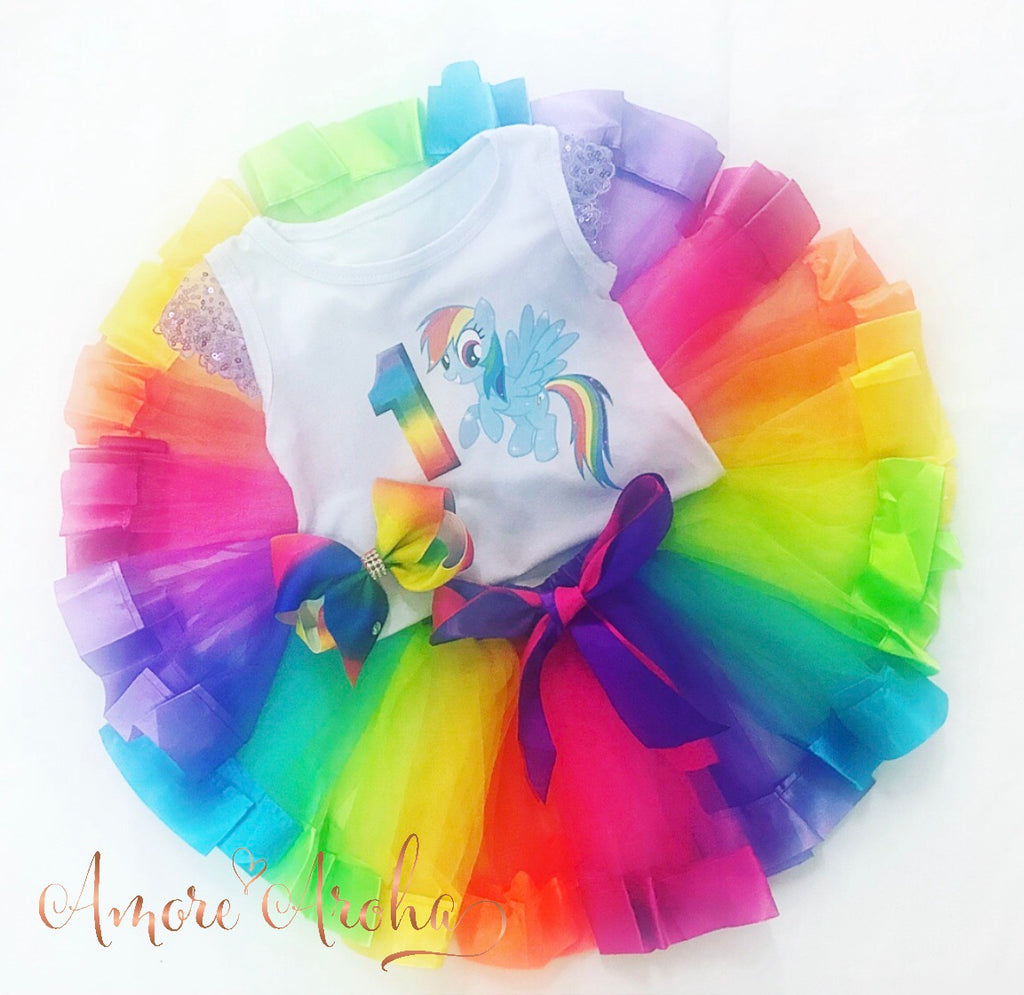 My Little Pony Rainbow Tutu Set