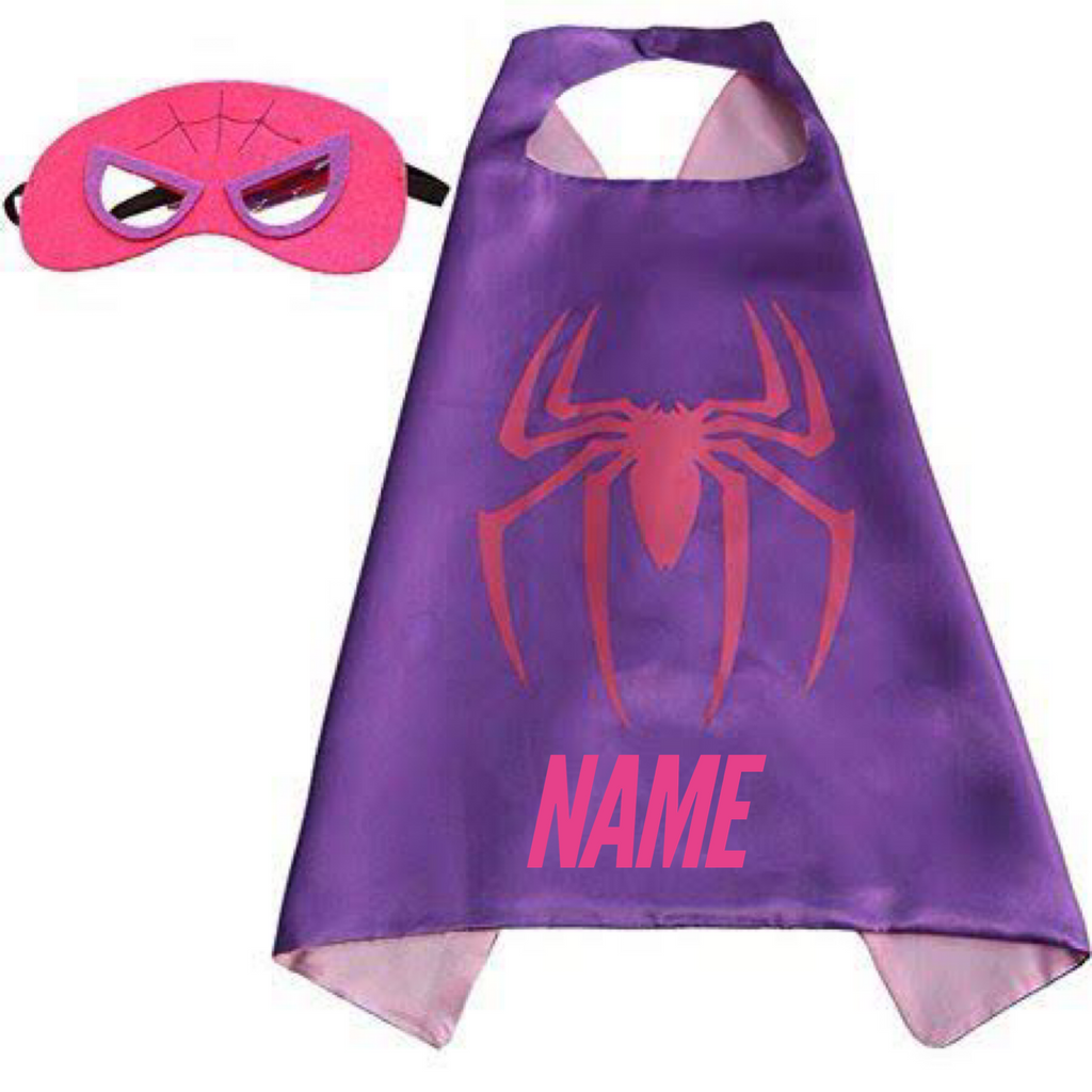 Personalised Cape and Mask Set - SpiderGirl