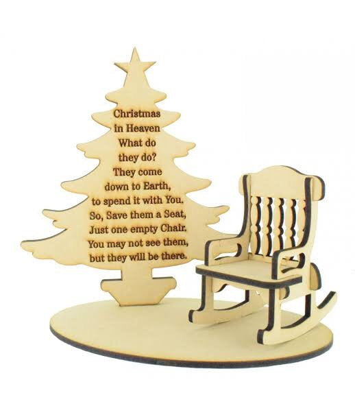 Christmas in Heaven Laser cut chair