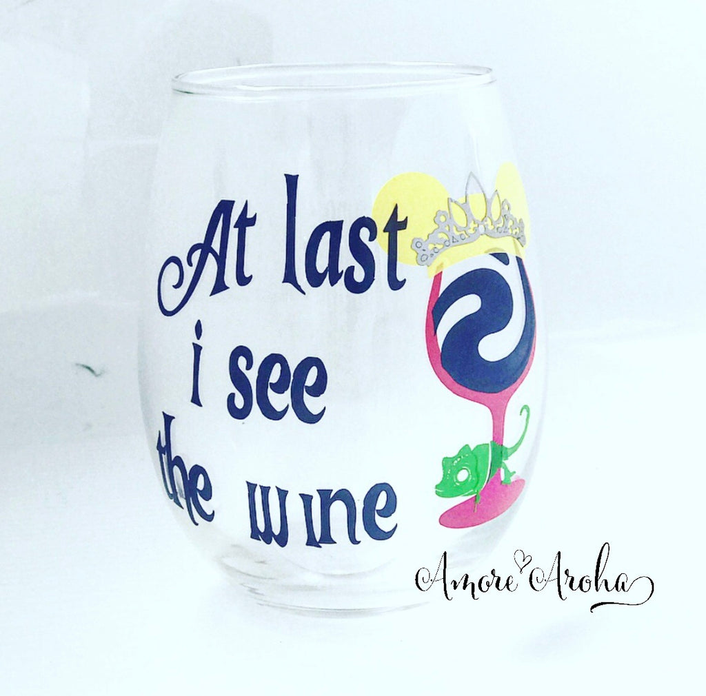 Stemless Wine Glass - Tangled