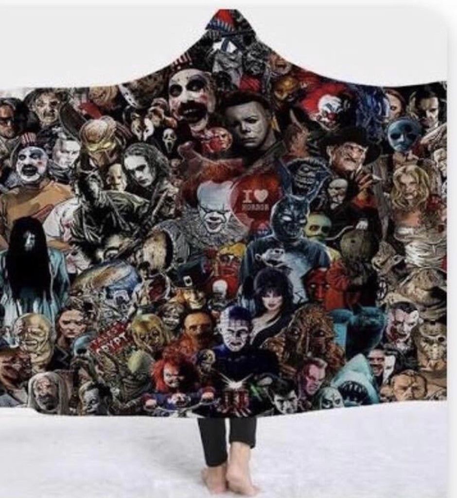 Horror Movie Hooded Blanket
