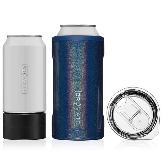 HOPSULATOR TRÍO 3-IN-1 | GLITTER REFLEX BLUE (16OZ/12OZ CANS)