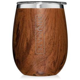 UNCORK'D XL 14oz Wine Glass by BrüMate | Walnut