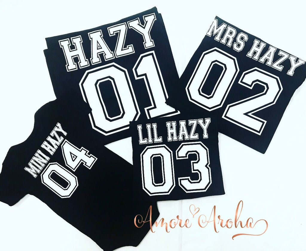Personalised Jersey Style Tshirts