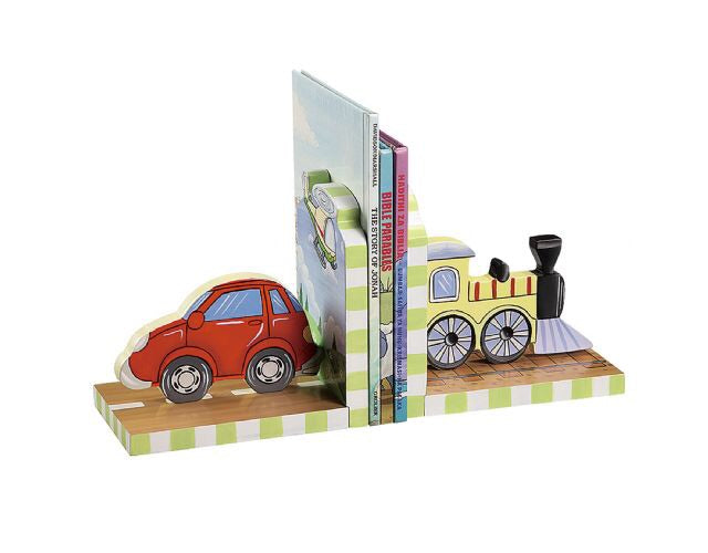 Wooden Book Ends - Transport