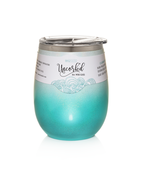 Wine Glass - Aqua Ombré LIMITED EDITION