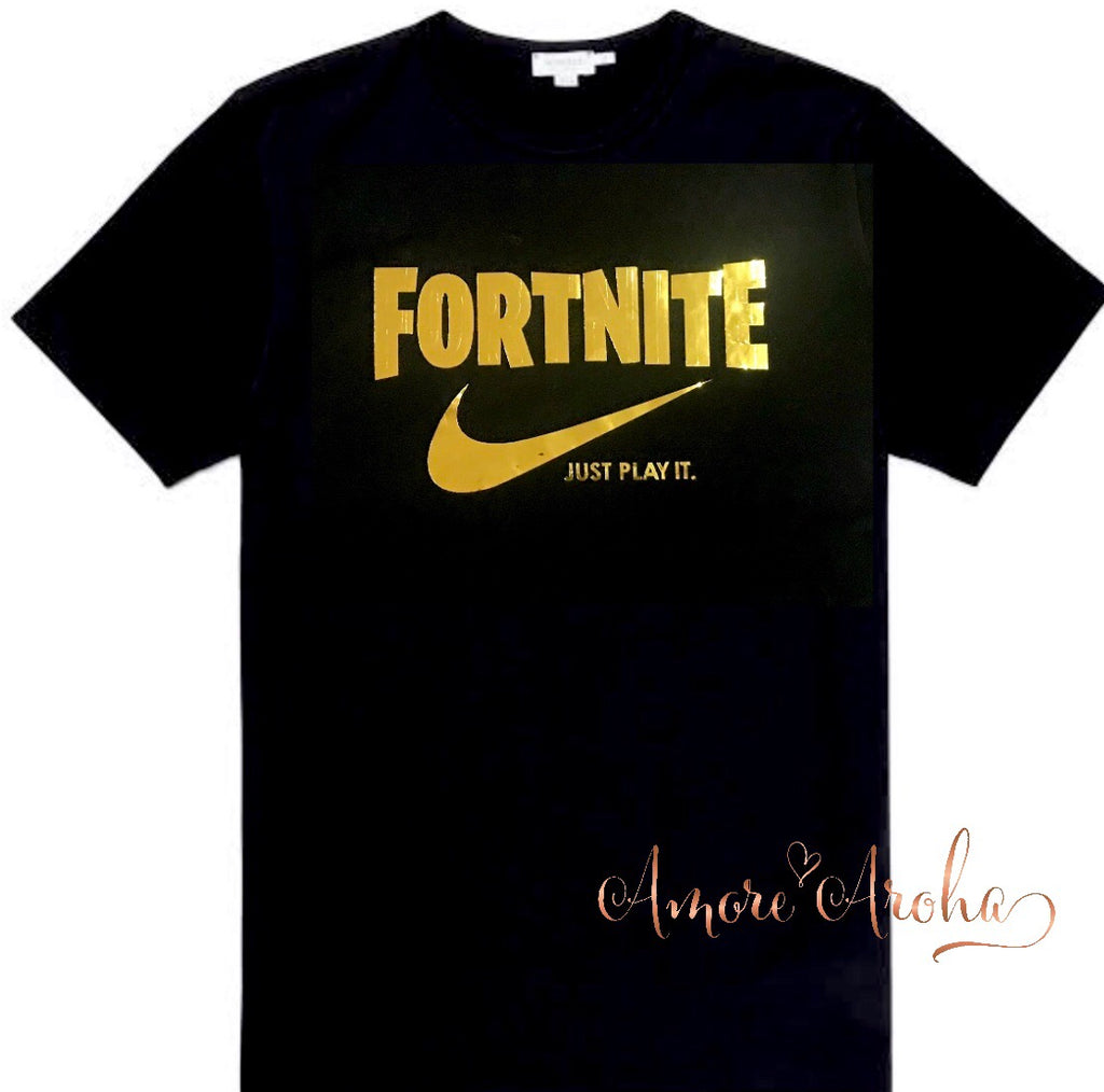 Fortnite Just Play it Tee
