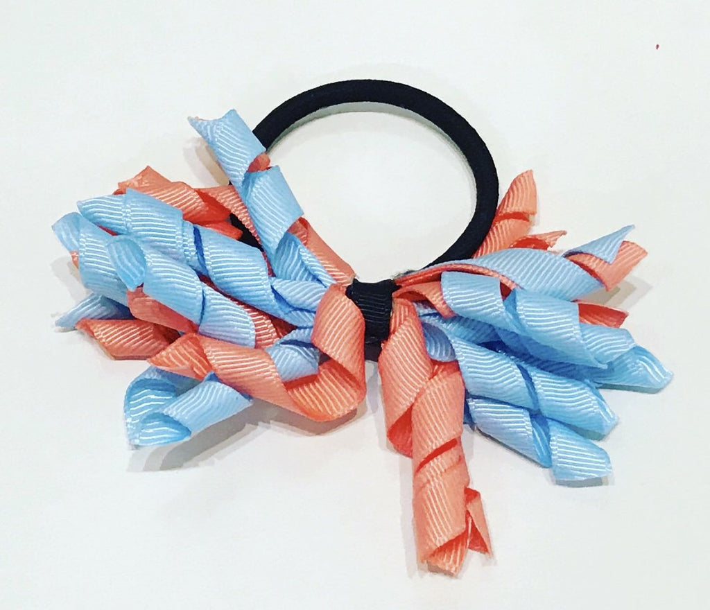 Mini Korker - Blue & Peach