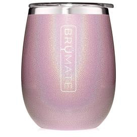 Wine Glass - Glitter Blush