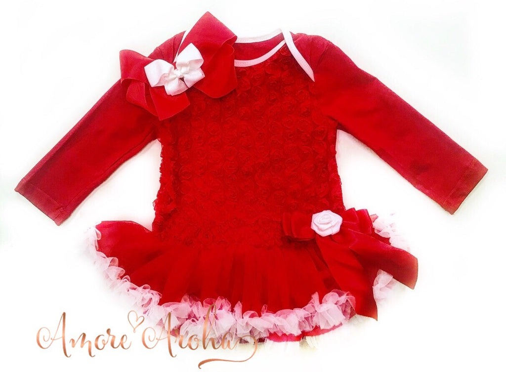 Red Tutu Romper & Headpiece