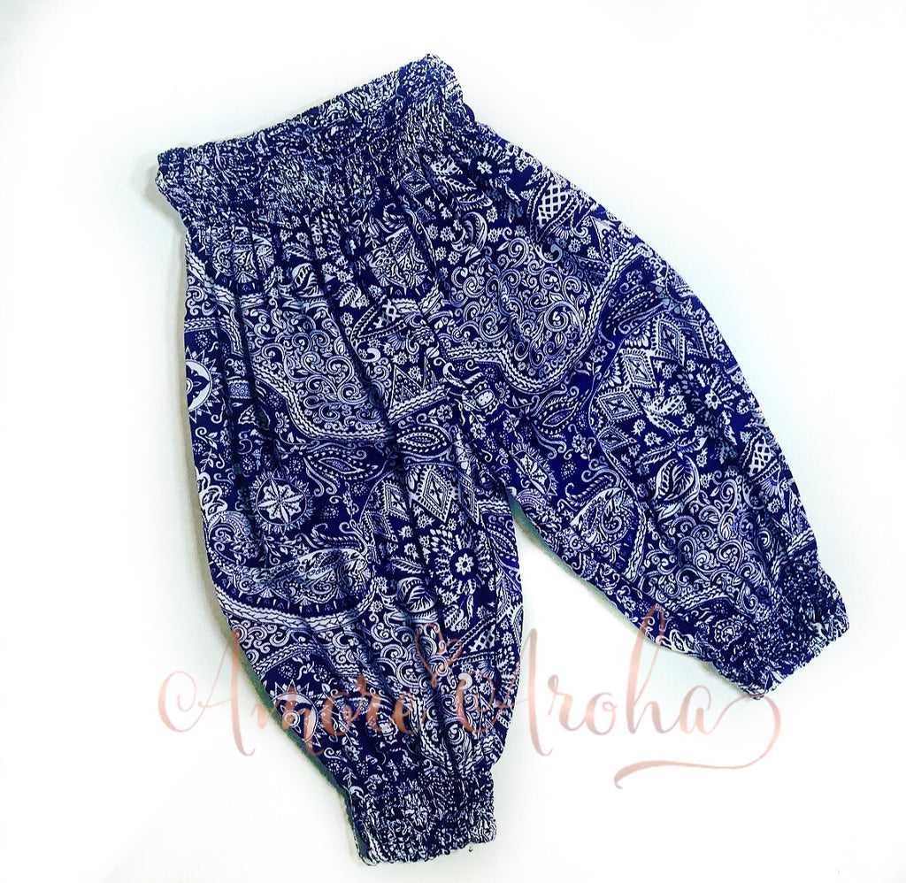 Purple Boho Harem Pants