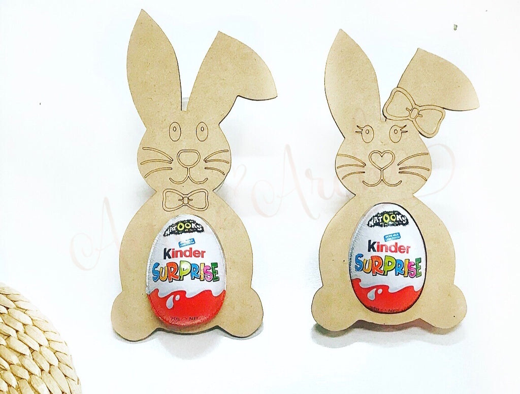 MDF Easter Bunny Kinder Holder
