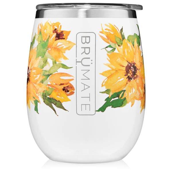 UNCORK'D XL 14OZ WINE TUMBLER | SUN FLOWER (LIMITED EDITION)