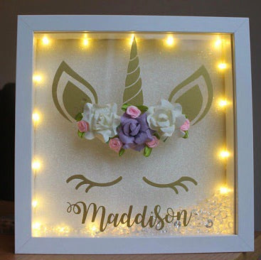 3D Unicorn Light Box