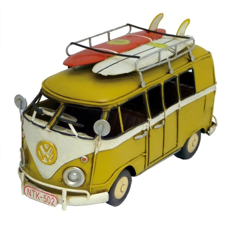Yellow Combi with Surfboards