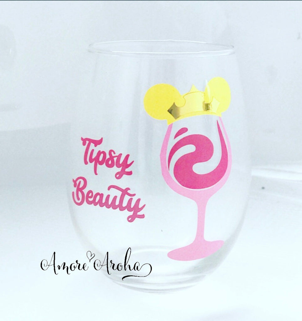 Stemless Wine Glass - Sleeping Beauty