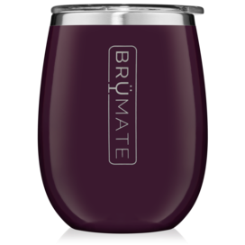 UNCORK'D XL 14oz Wine Glass by BrüMate | Plum