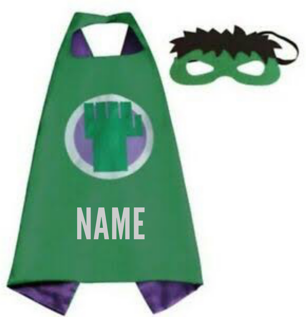 Personalised Cape Set - Hulk