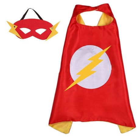 Cape & Mask Set - The Flash