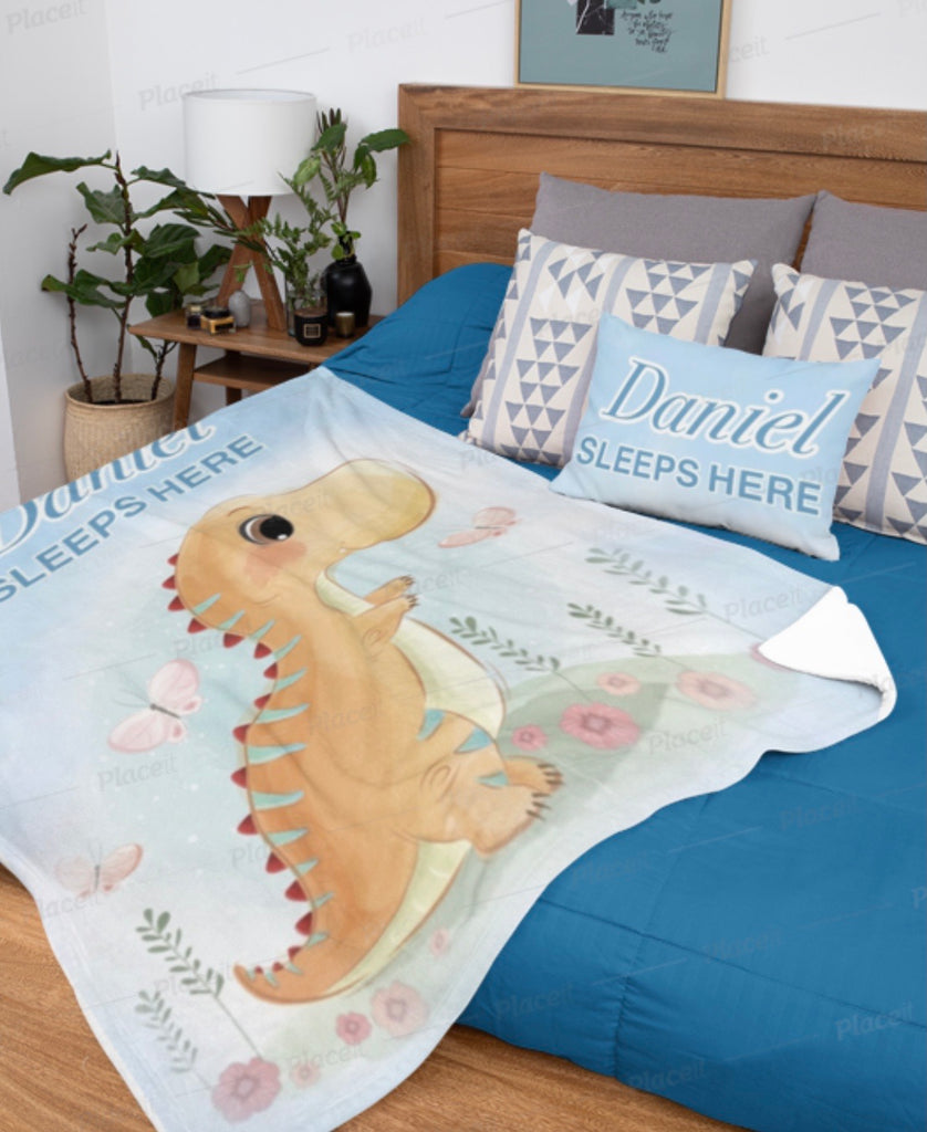 Personalised Blanket - Dino